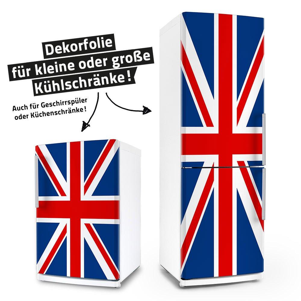 Kühlschrank- & Geschirrspüler-Folie --- Union Jack --- Dekorfolie Aufkleber Klebefolie Front posterdeluxe