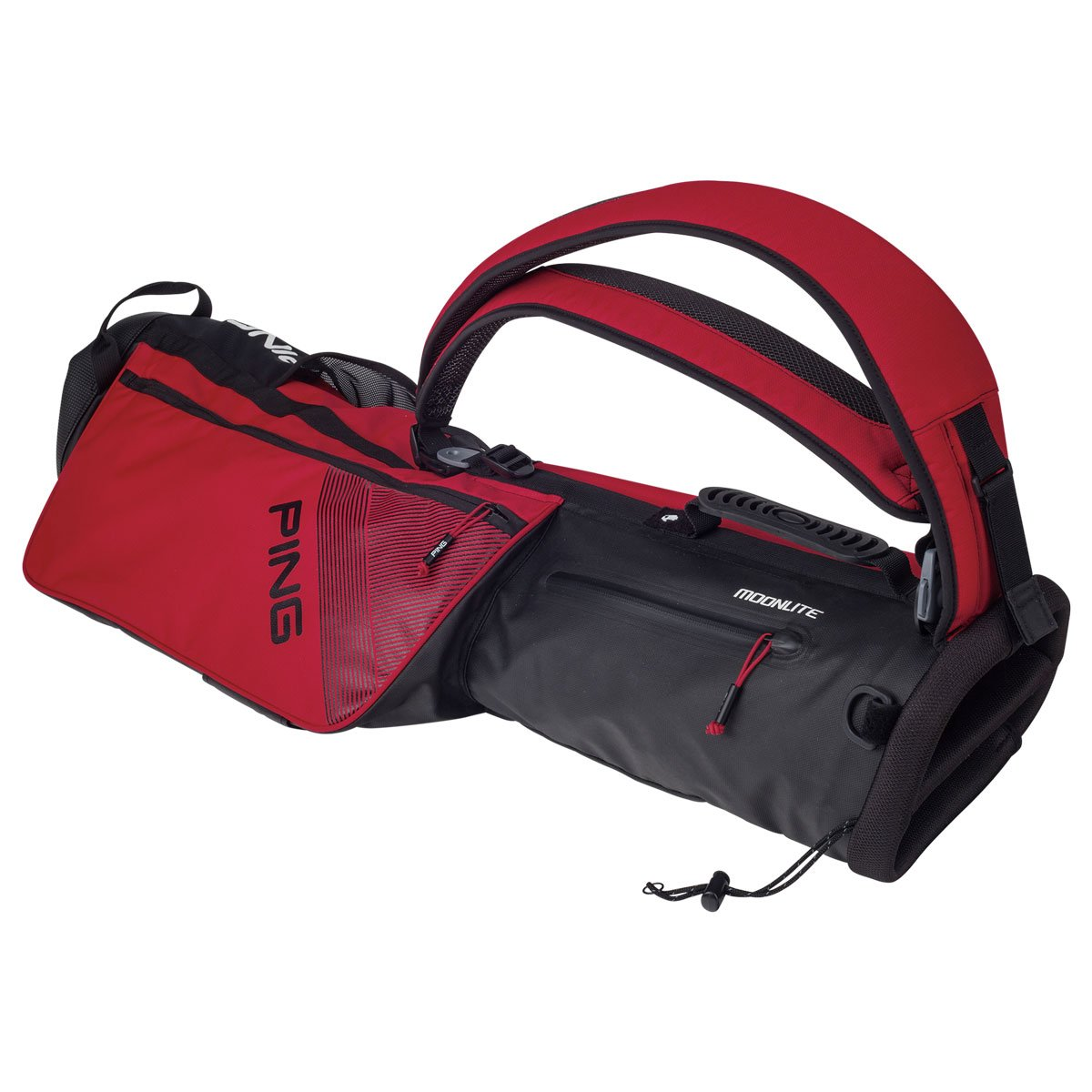 Ping 2018 MOONLITE 181 CARRY GOLF BAG 03 RED