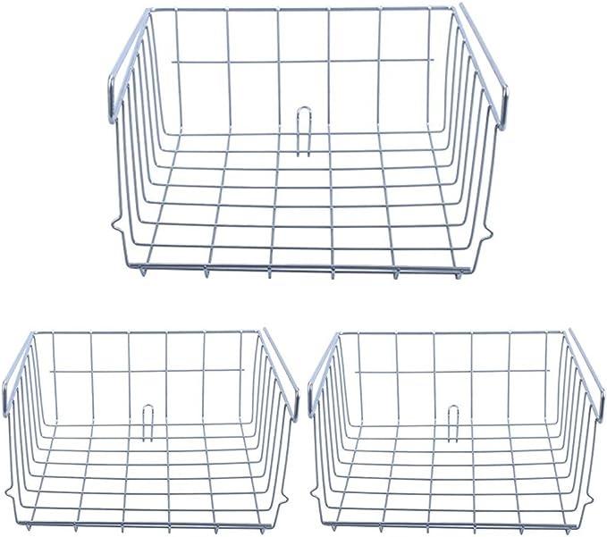 30/* 29.5/* 12.5/cm Wire Under Cabinet Cestino appeso ripiani Organizer porta Argento