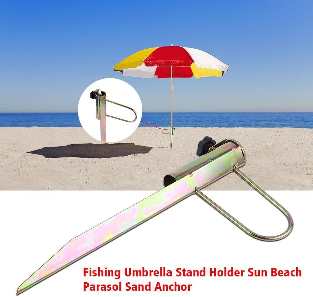 Hierro Sun Beach sombrilla de Pesca Titular 1 Piezas Garden Outdoor Travel Sand Parasol Archor Dewin Sombrilla Base