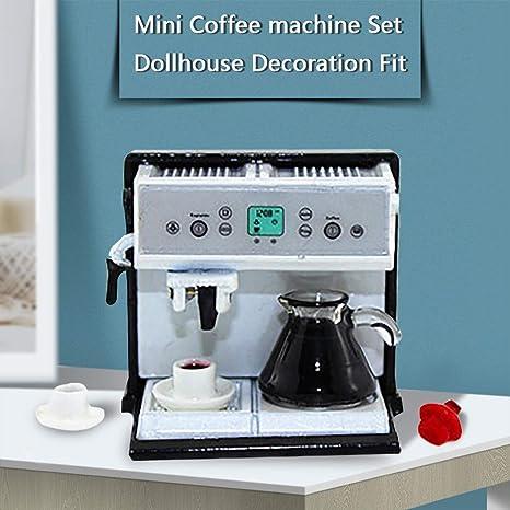 Dapei DIY Mini cafetera Kit (4 unidades) Casa de muñecas Muebles ...