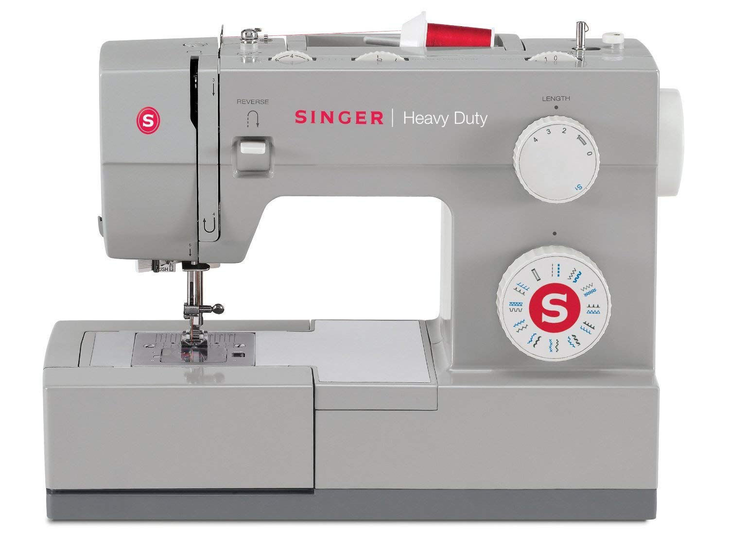 Singer 4423 23 Built-in Stitches-12 Decorative Stitches, 60% Stronger Motor & Automatic Needle Threader, Perfect Types o Heavy Duty Sewing Machine, White (Renewed)