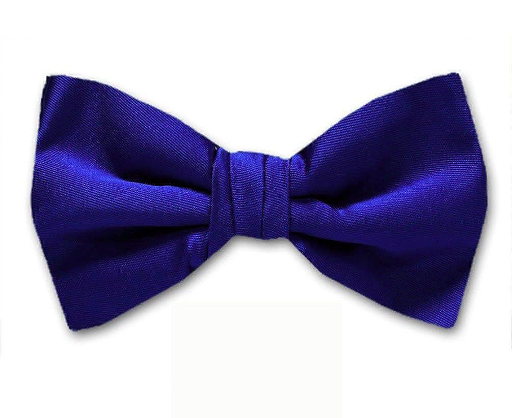 Royal Blue Solid Color Self-Tie Bow Tie