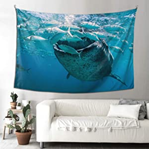 WHIOFE Decorative Wall Mount Philippine Whale Shark Patio Tapestry Living Room Tapestry 90x60 Inches(229x152cm) Wall Hanging Art Home for Living Room Bedroom