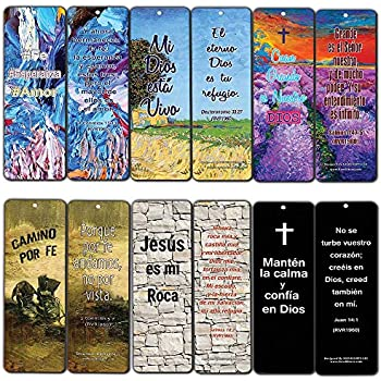 Spanish Favorite Bible Verses Bookmarks (30-Pack) - Great Giveaways for Ministries with Encouraging and Inspirational Messages
