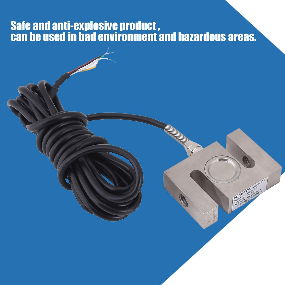 100kg Portable S-type Beam High-Precision Load Cell Scale Sensor 50// 100// 300// 2000 KG for Hopper Weight High Pressure Tension Weighing