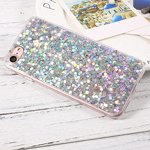 Bling Sequins TPU Cell Phone Tasche Hüllen Schutzhülle - case Accessory for iPhone 7 4.7 inch - Silver