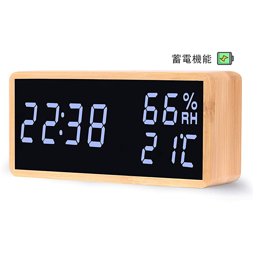 スナッチもう一度有利Kungix クロック 時計 デジタル 置き時計 目覚まし時計 LCD大画面 温度計 湿度計 時間/月日/曜日/最高最低温湿度/温度傾向図表示 アラーム/センサー/バックライト