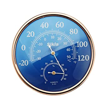 Large Round Thermometer Hygrometer Temperature Humidity Monitor Meter Gauge UK
