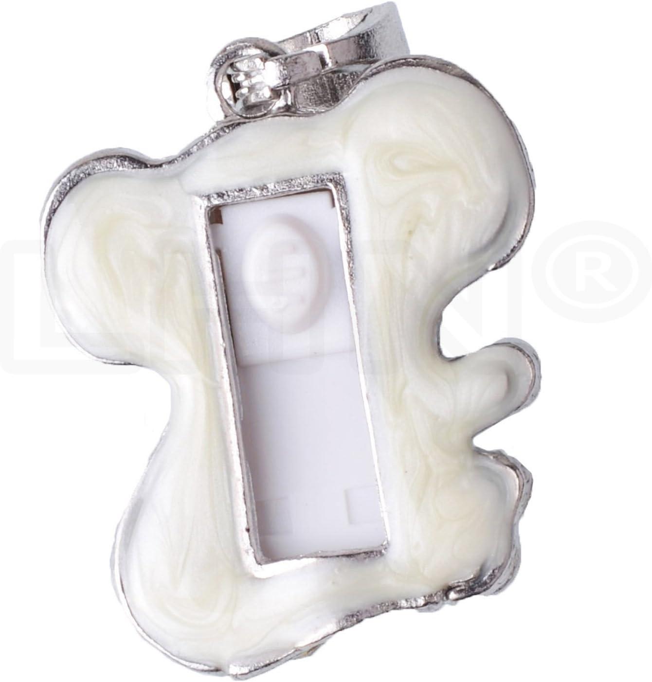Silver LHN 8GB Crystal Puppy Dog Pendant USB 2.0 Flash Drive with Rhinestones