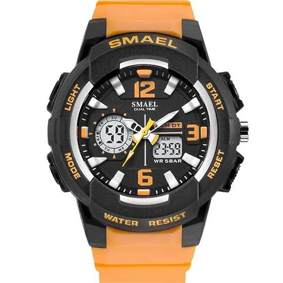 Relojes Deportes de Moda Relojes electrónicos multifuncionales Pareja Relojes Impermeables Populares para Hombres y Mujeres, A: Amazon.es: Relojes