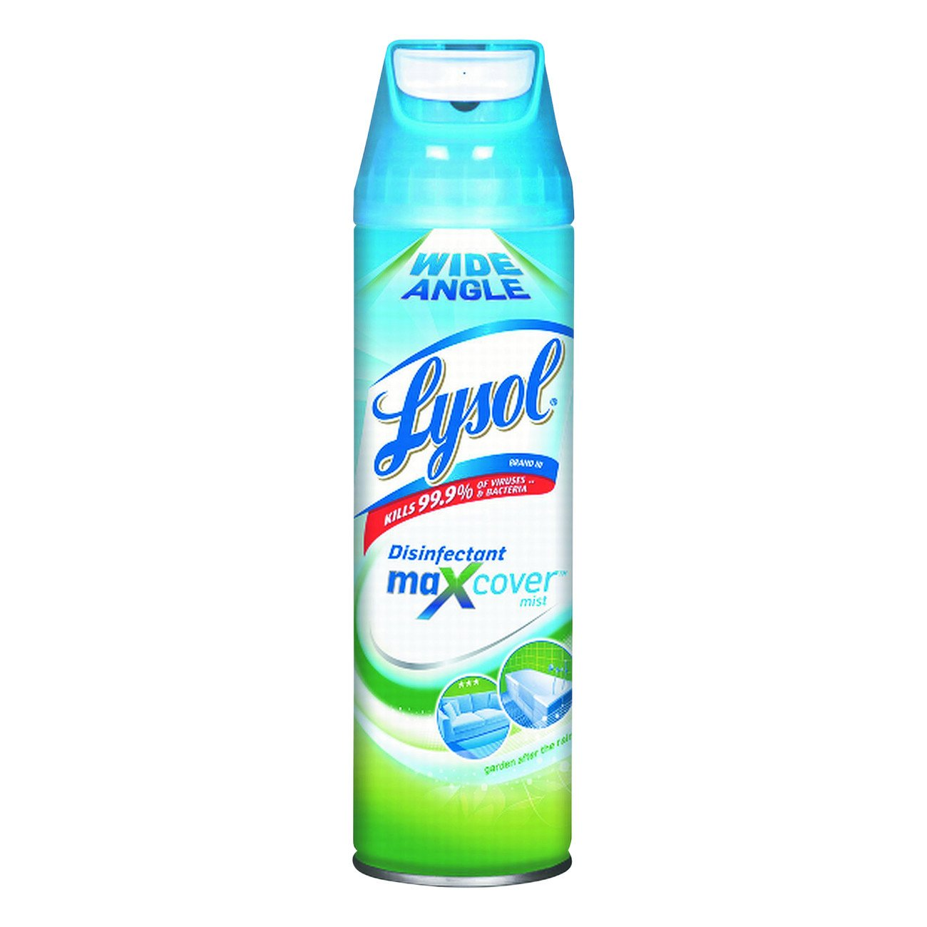 LYSOL Brand 94122 Lysol Max Cover Disinfectant Mist, Garden After Rain Scent, 15 oz. Volume (Pack of 12)