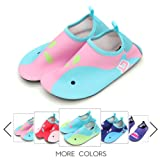 Amazon Price History for:Kids Water Shoes Lightweight Swim Skin Aqua Socks Shoes Slip-on Beach Pool