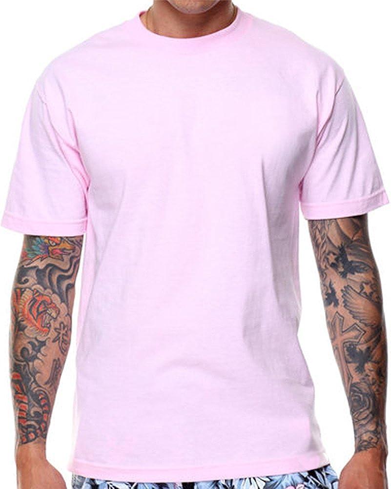 de3ccf398 CaliDesign Plain Pink T shirt Rose Pastel Urban Crew Tee Hipster Mens  Summer (S - Small) | Amazon.com