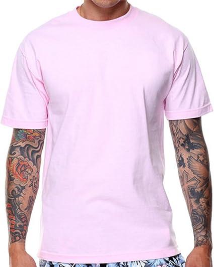 18bda99f331 CaliDesign Plain Pink T shirt Rose Pastel Urban Crew Tee Hipster Mens  Summer (S -
