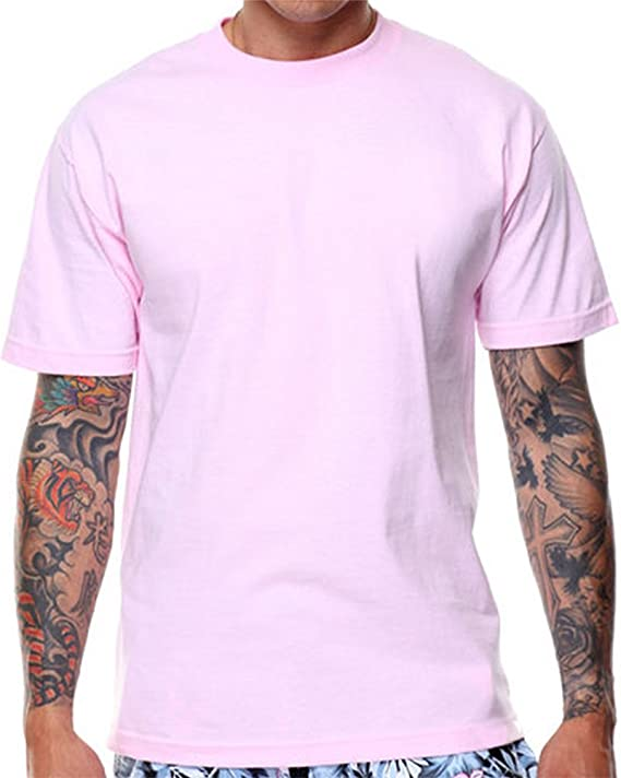 Plain Pink T shirt for Men, small
