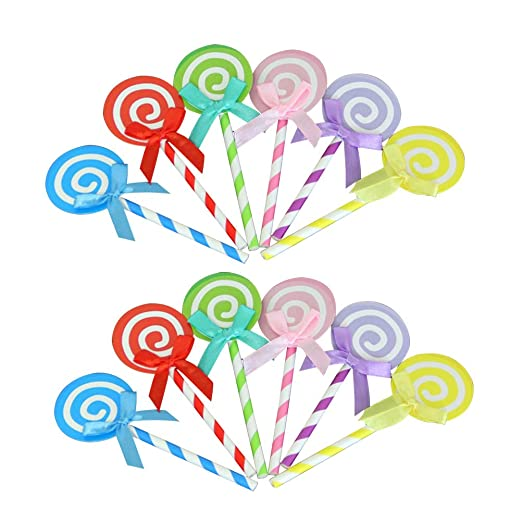 YeahiBaby - 12 Adornos para Cupcakes con Forma de piruleta ...
