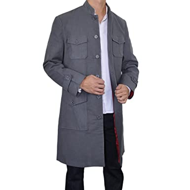 diversos estilos cliente primero diversos estilos Sinologie - Abrigo - cuello mao - para hombre gris Medium ...