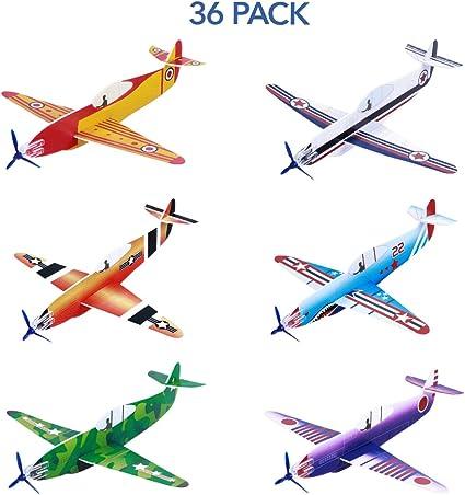 Toyvian Modelos de avión Avión Avión Juguetes Aviones Gliders Foam Glider Plane Paquete de 36 Pulgadas Bolsas de Fiesta llenas, Premios de Carnaval, Juegos al Aire Libre para niños Niños Chicas: Amazon.es: