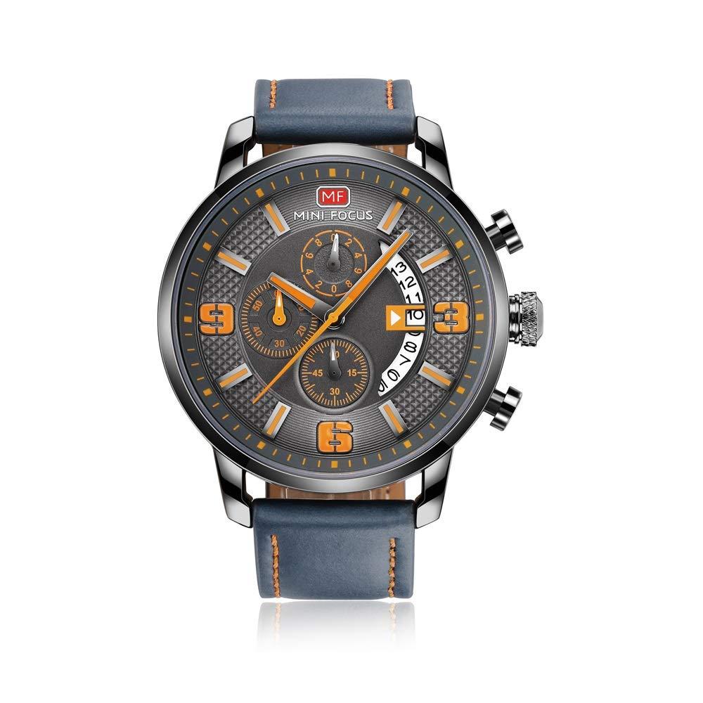 Relojes para Hombre de Negocios MINI Focus Hombres Relojes Deportivos Cronógrafo Fecha Moda Reloj de Pulsera Impermeable de Cuarzo