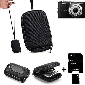 K-S-Trade Bolsa para Cámara Caso Duro, Estuche Compacta Nikon Coolpix L22, Funda Rígida. | Resistente A Los Golpes + 16GB Tarjeta De Memoria: Amazon.es: Electrónica