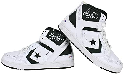 e39d93944acf Celtics Larry Bird Signed White Converse Game Model Shoes   Bird Holo - PSA  DNA