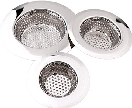 3 Pack Sink Strainer For Bathroom And Kitchen 2 75 4 5 Stainless Steel Bathtub Drain Cover Shower Drain Hair Trap Tub Hair Catcher 1 16 Holes Amazon Com