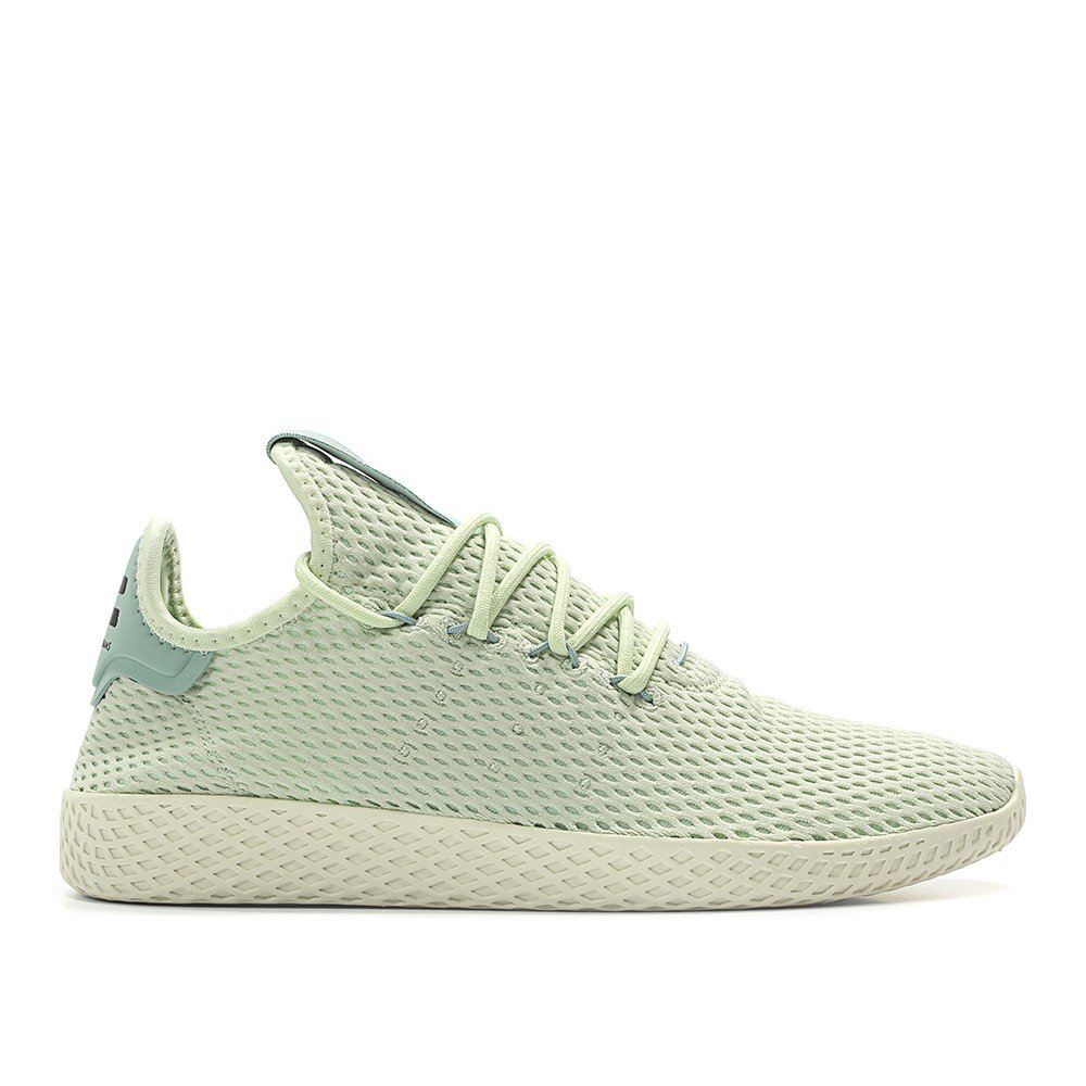 adidas Men's Pw Tennis Hu Sneaker B076FBMWWK 6.5 D(M) US Linen Green 6367