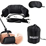 Neck Hammock by BHALLI - Model 2.0 Natural & Effective Relief from Chronic Neck Pain - Attach This Cervical Traction Device to Any Door/Railing for Instant Results - Affordable Neck Stretcher Support