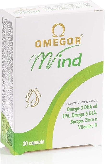 Omegor Mind - Complemento Alimenticio con Omega-3 DHA y Extracto de Bacopa Monnieri, Aceite de Borraja, Zinc y Vitaminas B, forma TG, 30 Cápsulas: Amazon.es: Deportes y aire libre