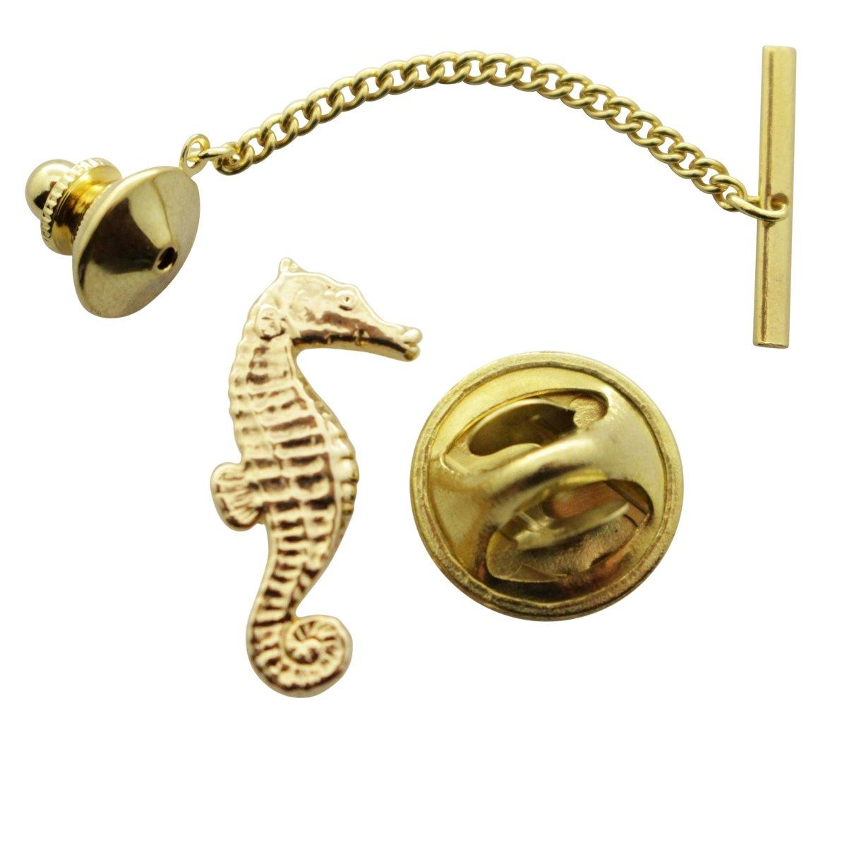 Seahorse Tie Tack ~ 24K Gold ~ Tie Tack or Pin ~ Sarah's Treats & Treasures by Sarah's Treats & Treasures