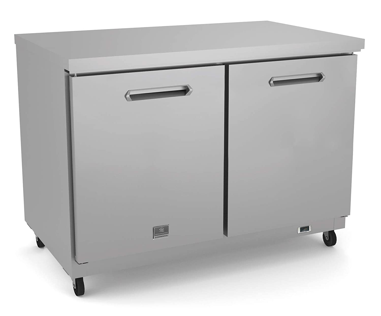 "Kelvinator KCHUC48R Stainless Steel Undercounter Commercial Refrigerator, 12 cu.ft, 48""with 2 Doors"