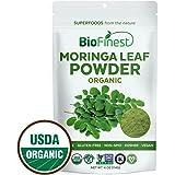 Biofinest Moringa Leaf Powder - 100% Pure Freeze-Dried Antioxidants Superfood - USDA Certified Organic Kosher Vegan Raw Non-GMO - Boost Digestion Immune System - For Smoothie Beverage Blend (4 oz)