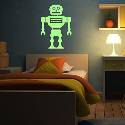 Fosforescente Vinilos decorativos robot aspirador - 55 x 40 ...