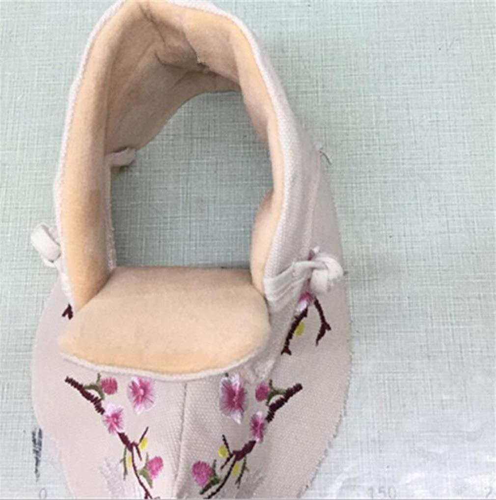 Hy Damenschuhe Flache Besteickte Schuhe für den den den Herbst Winter-Stil Slip-On-Stiefeletten Stiefeletten Damen-Nationalwind-Segeltuchschuhe Freizeitschuhe (Farbe   Beige and Velvet Größe   39) 9f202f