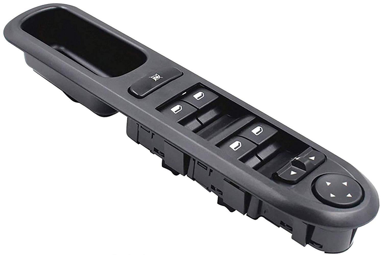LUCKLYSTAR/® 6554.QC Master Ventana Interruptor Consola para Coches Elevalunas 6554 QC Negro