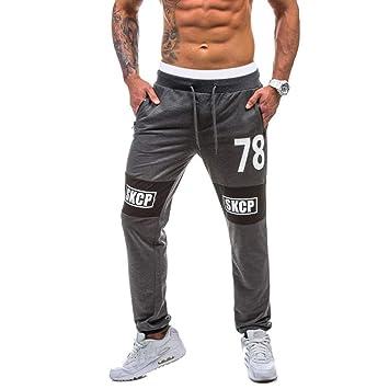 Amlaiworld Pantalones de Deporte Hombre Pantalones de Chándal para Hombre Pantalón Deportivo Jogger para Fútbol Gimnasio Aptitud Ejercicio Running ...