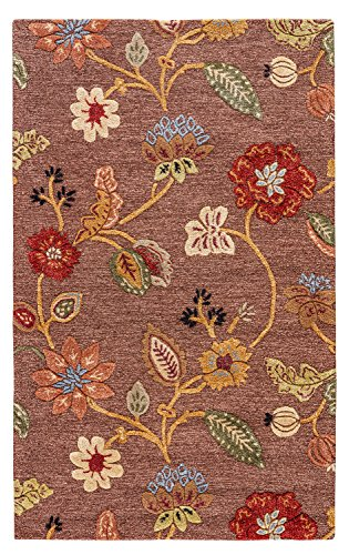 (Jaipur Living Garden Party Hand-Tufted Floral & Leaves Brown Area Rug (9'6