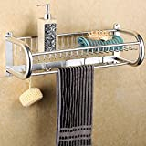 MDRW-Towel Rack Space Aluminum Bathroom Accessories Light Treatment Bathroom Hook