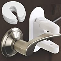Child Safety Locks Door Lever Lock (2 Pack) Child Proofing Prevents from Opening Toddlers, Kids, Baby, and Pet. 3M…