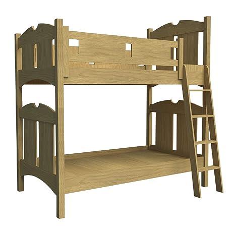Costruire il proprio letto a castello in legno W/Ladder ...