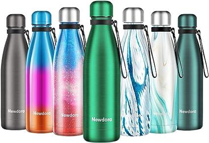 Isolier Flasche 1,0 L Outdoor EDS nachtblau Sportflasche Trinkflasche Wandern