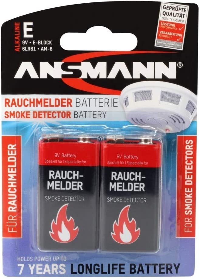 2 Ansmann Alkaline Longlife Rauchmelder 9v Block Elektronik