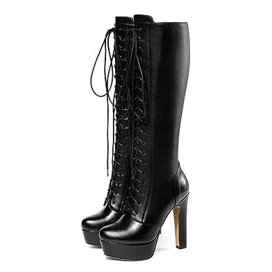 97af835632e Amazon.com   Fashion Knee High Boot Women Sexy Platform High Heel ...