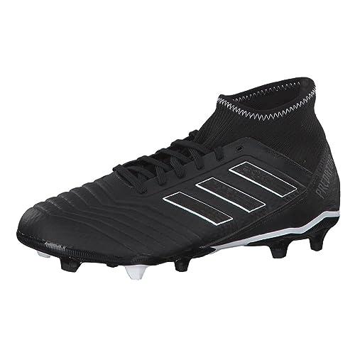 adidas Predator 18.3 Fg, Scarpe da Calcio Uomo, Nero (Negbás/Ftwbla/Rojo 001), 40 EU