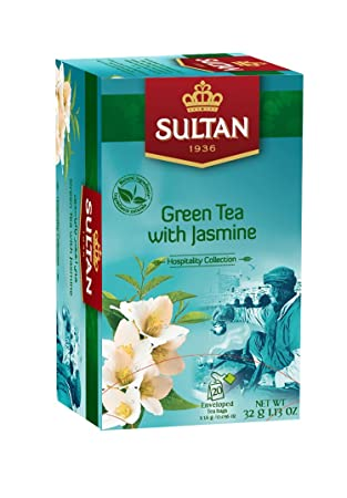 Amazon.com: Té Verde con bolsas de JASMIN Infusión – 20 ...