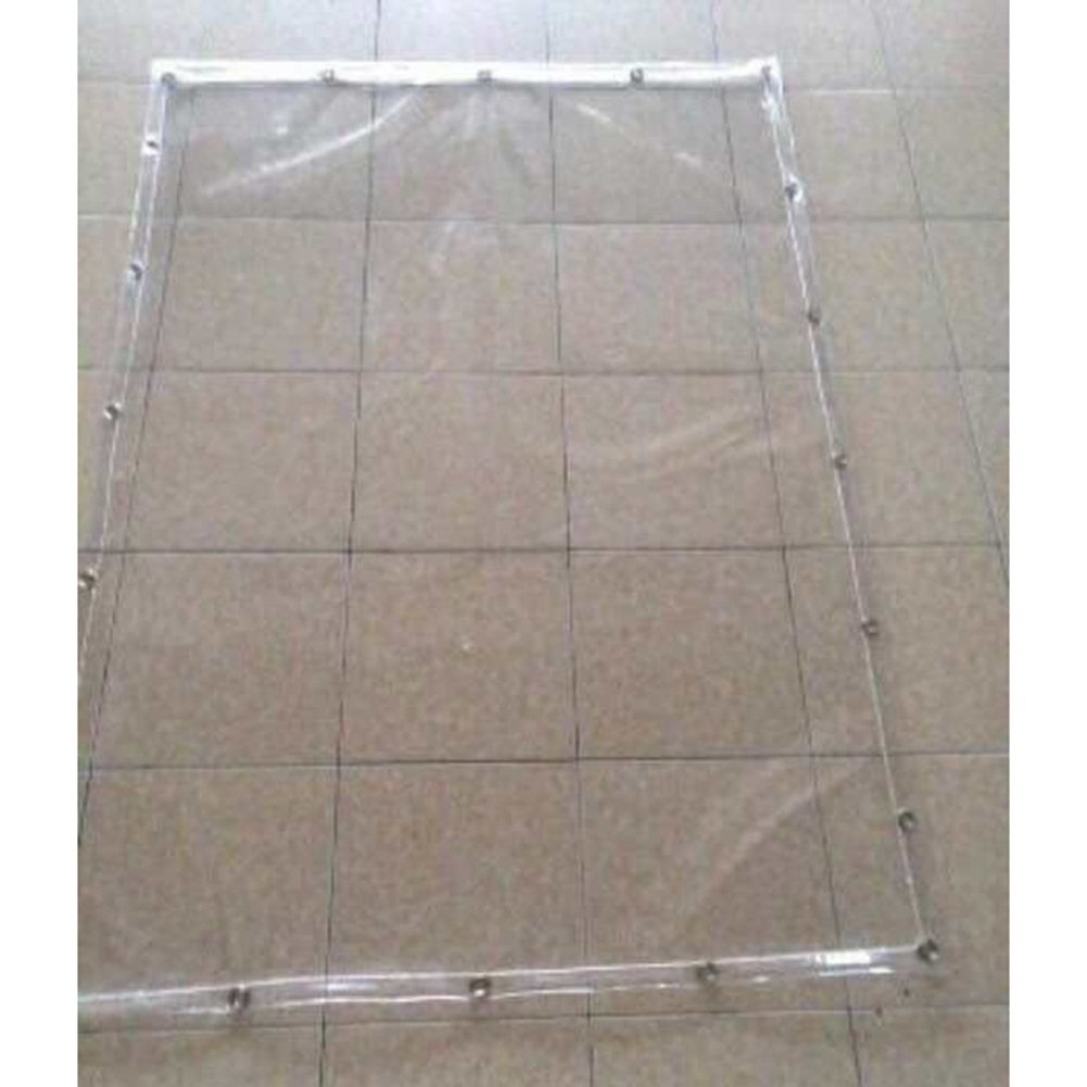 QRFDIAN Starke transparente regendichte Wasserdichte Sonnenschutzregensegeltuchplane verschüttete Tuchdach-Plastikweichplastikplattengewohnheitsgröße