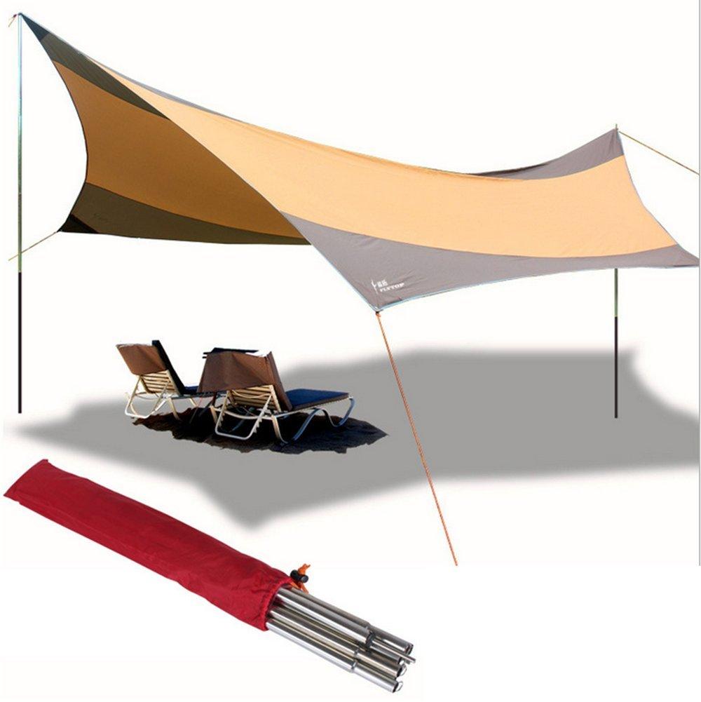Zelt Camping Shelter Gepolstertes Zelt Winddicht Im Freien, UV-Beständig Für Strand Camping Wandern Höhlenforschung 1000-1500 mm Oxford Tuch 560  550 cm