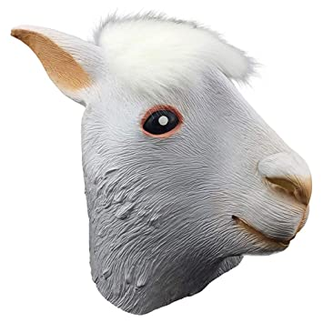 Masque YN Adulte Bête d\u0027Alpaga Halloween Animal Hood Cheval Tête Cosplay  Enfants Montrer Accessoires