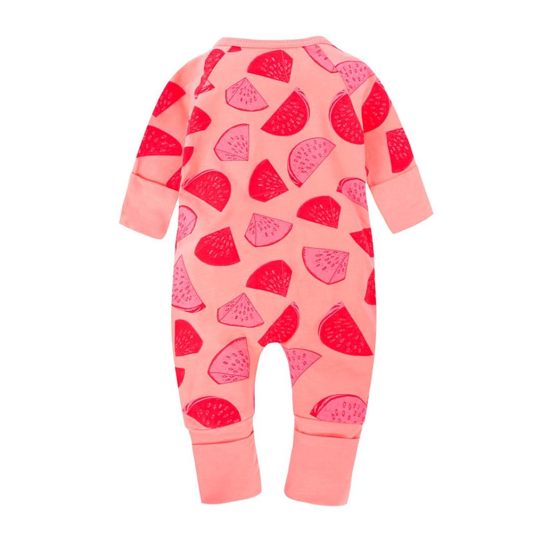 17280ecf65fa Amazon.com  Newborn Baby Girls Boys Long Sleeve Watermelon Printing ...